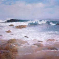 California Surf by Jannene Behl / 16x20 / Pastel on Sanded Paper