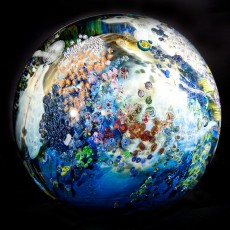 Glass, Artist, Josh Simpson, Primavera Gallery, Ojai, CA, Mega Planet