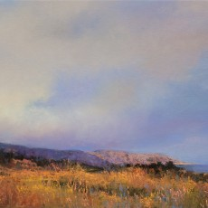 Rain Over Carpinteria by Jannene Behl / 12x18 / Pastel on Sanded Paper