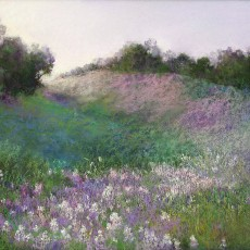 Spring Glow by Jannene Behl /  12x18 / Pastel on Sanded Paper