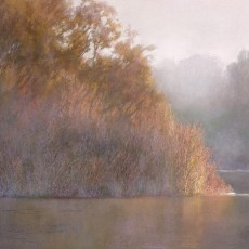 Twilight at Bird Refuge, Santa Barbara by Jannene Behl /  Pastel on Sanded Paper / Private Collection