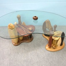 Steven Spiro, Wood Artist, Furniture, Inlay, coffee table