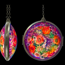 Ulla Darni, glass artist, Primavera Gallery, Ojai, CA, Chandelier