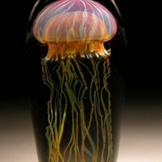 Glass, Artist, glassblower, Richard Satava, Jelly Fish, Primavera Gallery, Ojai, CA