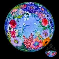 Ulla Darni, Reverse Painted Glass Chandelier, Primavera gallery, Ojai, CA