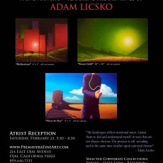 Adam Licsko exhibition Invite