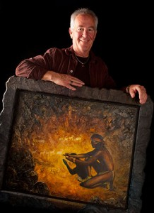 Portrait of Kent Butler with his Painting