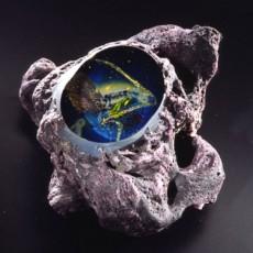Glass, Artist, Josh Simpson, Primavera Gallery, Ojai, CA, Mega Planets, Tektite Portal