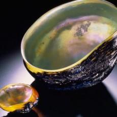 Glass, Artist, Josh Simpson, Primavera Gallery, Ojai, CA, Mega Planets, Tektite