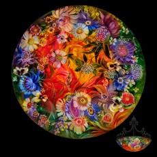 Ulla Darni, Primavera Gallery, Ojai, Ca, chandelier, glass, painting